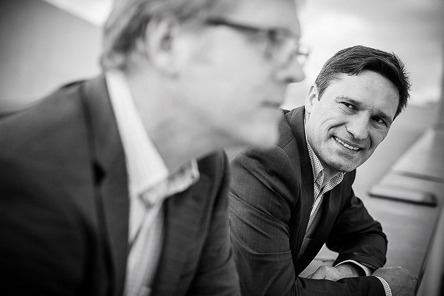 Die beiden Geschäftsführer Peter Schuhmacher und Alois Schöttler von EasyData. © Detlef Heese